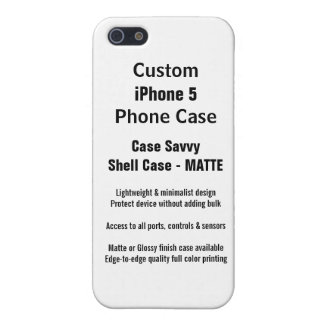 Custom iPhone 5 MATTE Case Savvy Shell Case Case For The iPhone 5