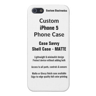 Custom iPhone 5 MATTE Case Savvy Shell Case iPhone 5/5S Case