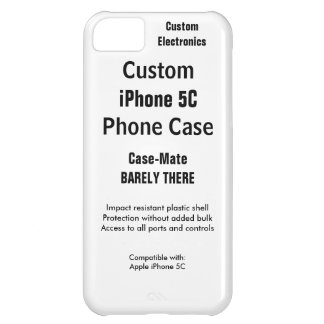 Custom iPhone 5C Barely There Phone Case