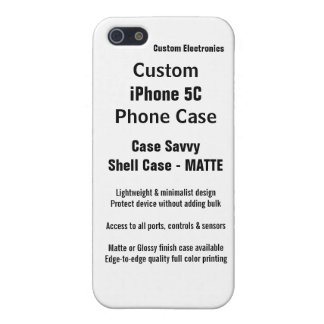 Custom iPhone 5C MATTE Case Savvy Shell Case iPhone 5 Case