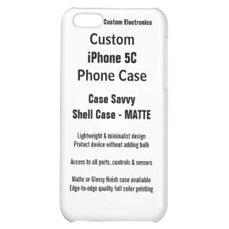 Custom iPhone 5C MATTE Case Savvy Shell Case Cover For iPhone 5C