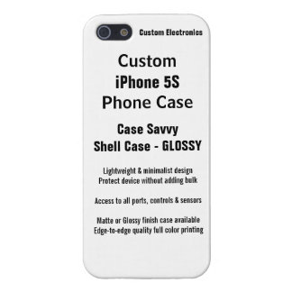 Custom iPhone 5S GLOSSY Case Savvy Shell Case iPhone 5 Case
