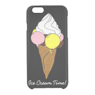 Custom iPhone 6/6s ice ice cream Ice cream Clear iPhone 6/6S Case