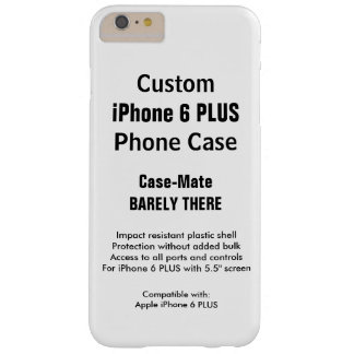 Custom iPhone 6 PLUS Barely There Phone Case
