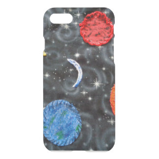 custom iPhone 7/6 clearly deflected case w/abstrac