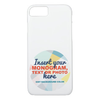 Custom iPhone 7 Case: Add your own monogram/text Case-Mate iPhone Case