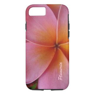 Custom iPhone 7 Case Pink Plumeria Personalized