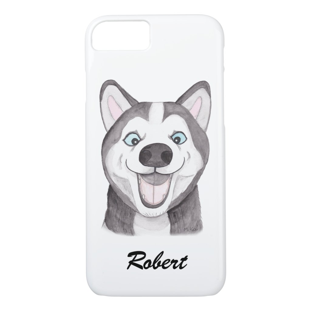 Custom iPhone case Personalized Husky iPhone case