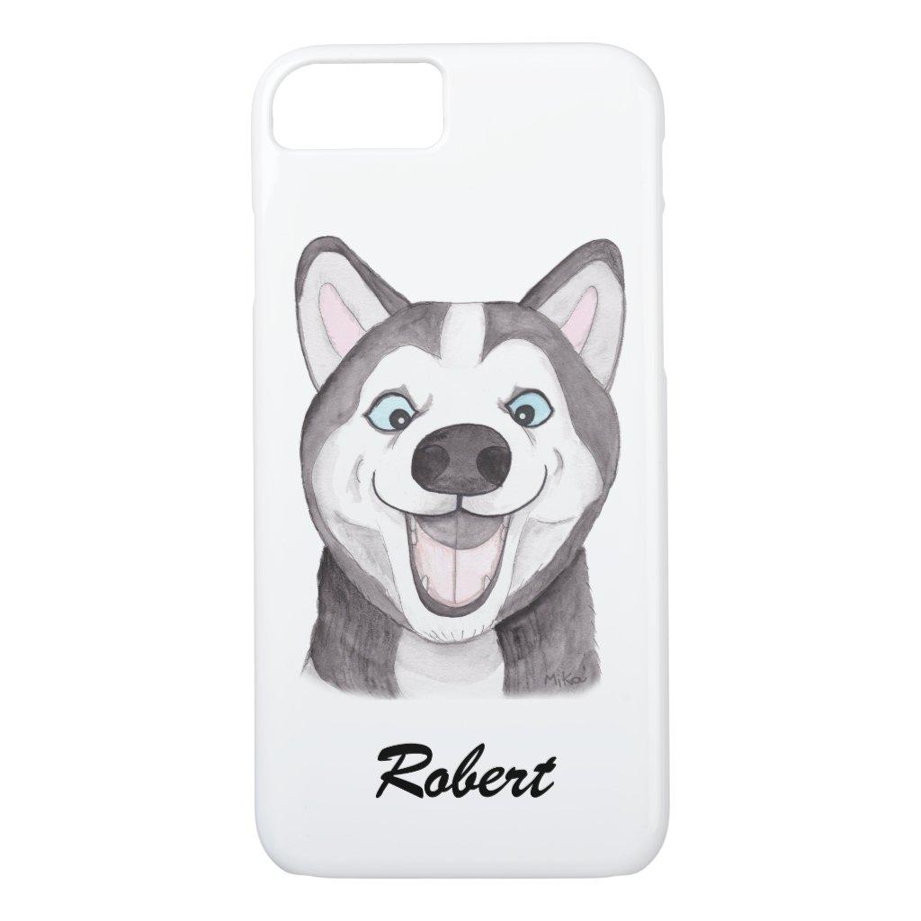 Custom iPhone case Personalized Husky iPhone case