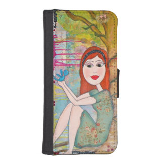 Custom iPhone Wallet with beautifully colored art