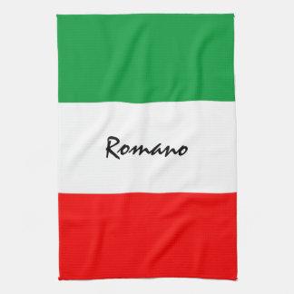 Custom Italian-American Flag Kitchen Towel