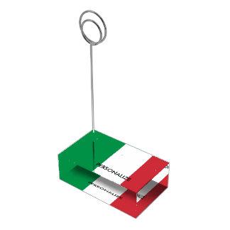 Custom Italian flag table place card holders