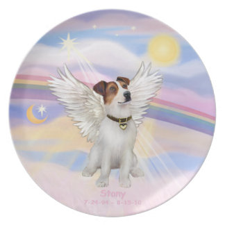 CUSTOM - Jack Russell Terrier Angel STONY Party Plate
