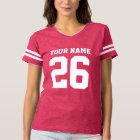 Custom jersey number pink womens football t shirt