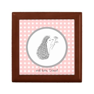 Custom Jewelry Box Hedgehog Love Keepsake For Her