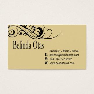 Custom Journalist Writer Editor Business Card