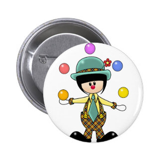 Custom Juggling Clown 2 Inch Round Button