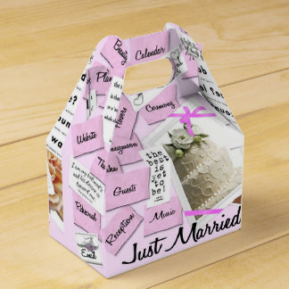 Custom Just Married Wedding Favor Boxes