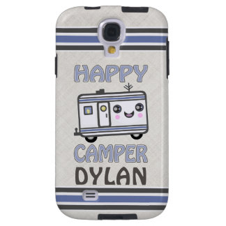 Custom Kawaii Happy Camper Samsung Galaxy S4 Case