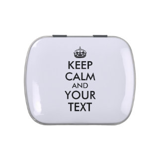 Custom Keep Calm Candy Tins Party Favors Your Text