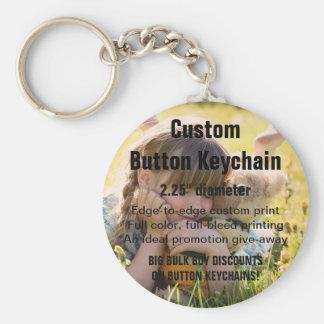 "Custom Keychain BUTTON 2.25"" - Bulk Buy Discount!"