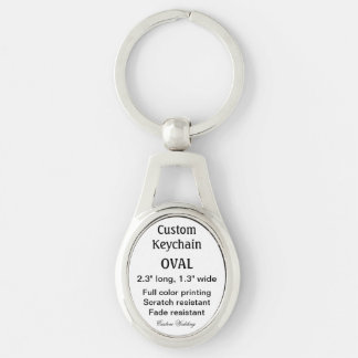 "Custom Keychain - OVAL Shaped 2.3"" x 1.3"" Metal"