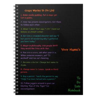 Custom Kids Funny Crazy Wacky To Do Lists Notebook