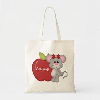 Custom Kids Mouse School Tote Bag