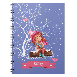 Custom Kid's Name Fun Christmas Gift Notebooks