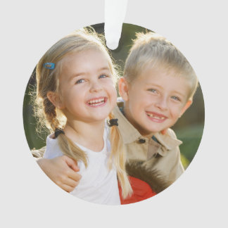 Custom Kids Photo Holiday Ornament