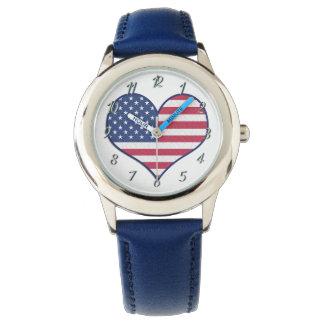 Custom Kids Sweet Heart Blue Watch By Zazz_it