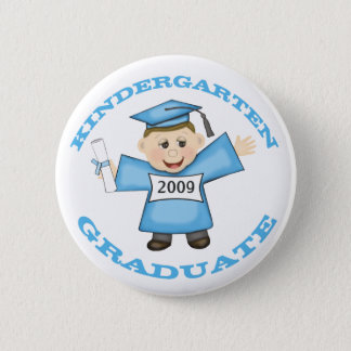 Custom Kindergarten Blue Girl Graduate 2 Inch Round Button