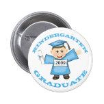 Custom Kindergarten Blue Girl Graduate 2 Inch Round Button