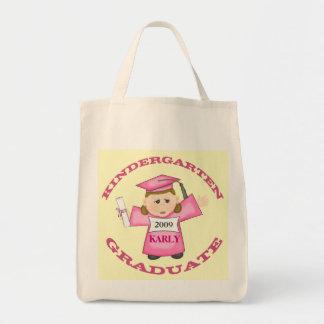 Custom Kindergarten Girl Graduate Tote Bag