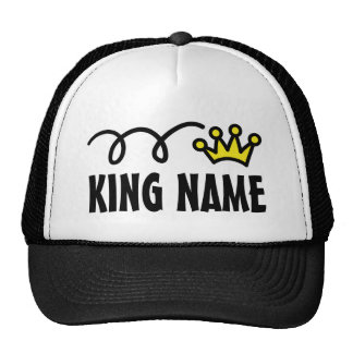 Custom king's trucker hat with crown