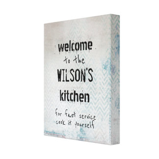 custom kitchen quote canvas wall art