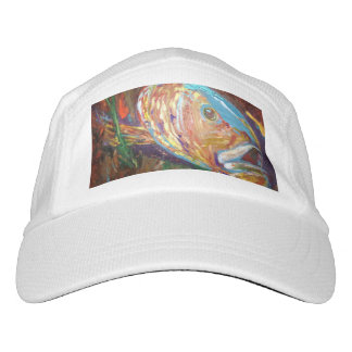 Custom Knit Performance Hat, White, Fish abstract Hat