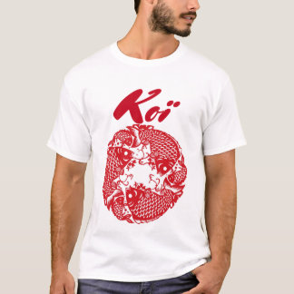 Custom Koi Carp Fish Fan T-Shirt