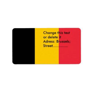 Custom Label with Flag of Belgium