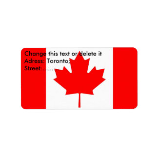 Custom Label with Flag of Canada Address Label