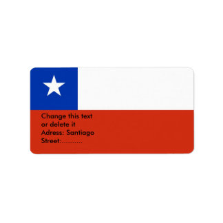 Custom Label with Flag of Chile