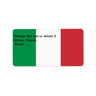 Custom Label with Flag of Italy