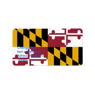 Custom Label with Flag of Maryland, U.S.A.