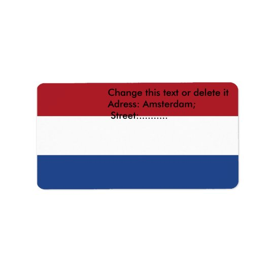 Custom Label with Flag of Netherlands