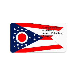 Custom Label with Flag of Ohio, U.S.A.