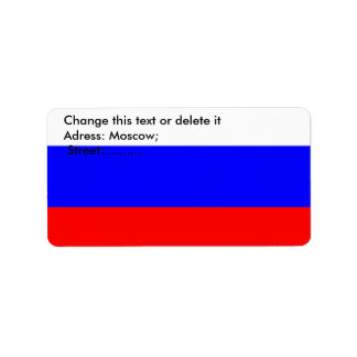 Custom Label with Flag of Russia