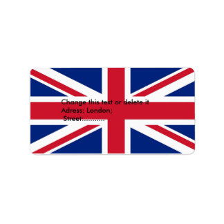 Custom Label with Flag of United Kingdom