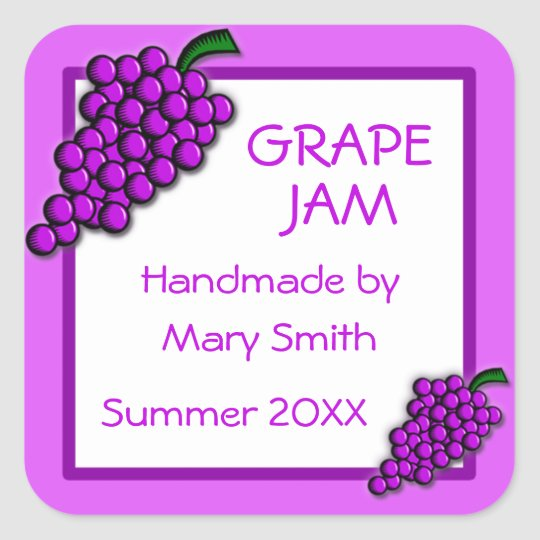 Custom Labels for Homemade Grape Jam