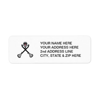 Custom Lacrosse Player Return Address Label