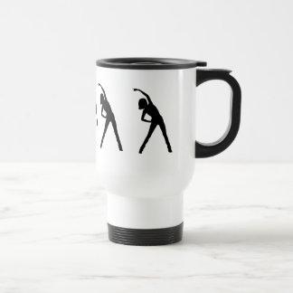 Custom Lady Stretching Excersize Mug